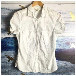 L.O.G.G. White Short Sleeve Button Down Shirt
